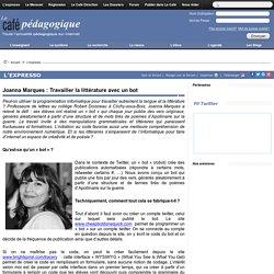 Joanna Marques : Travailler la littérature avec un bot