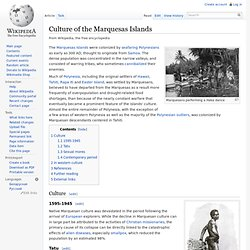 Culture of the Marquesas Islands