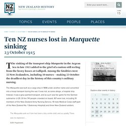 Ten NZ nurses lost in Marquette sinking