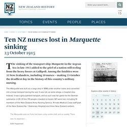Ten NZ nurses lost in Marquette sinking