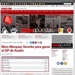 Marc Márquez, favorito para ganar el GP de Austin