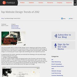 Top Website Design Trends for 2012 | Blog | Marqui
