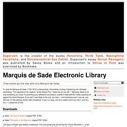 Marquis de Sade Electronic Library