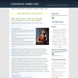 SADE, Marquis (de) – Idées sur le roman