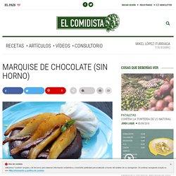 Marquise de chocolate (sin horno)