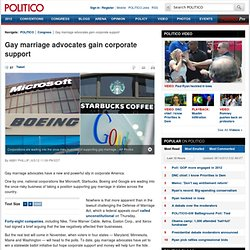 Gay marriage advocates gain corporate support - Abby Phillip