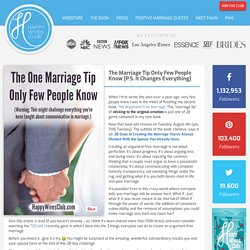 The Marriage Tip Only Few People Know (P.S. It Changes Everything)