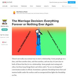 The Marriage Decision: Everything Forever or Nothing Ever Again - Wait But Why - Pocket