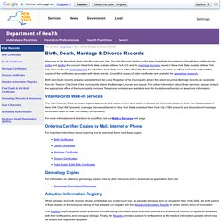 Birth, Death, Marriage & Divorce Records - New York State Department of Health