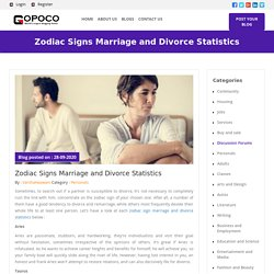 Zodiac Signs Marriage and Divorce Statistics