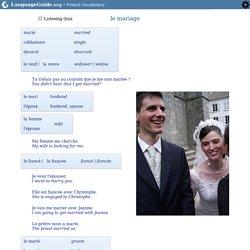 Mariage: Vocabulaire