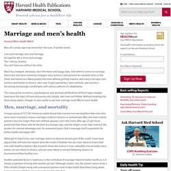 Marriage and men's health