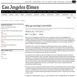 Same-sex marriage: It's inevitable - latimes.com - Aurora