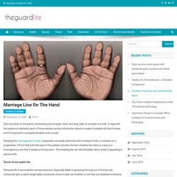 Marriage line on the hand - News Portal