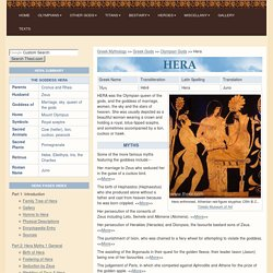 HERA : Greek Goddess of Marriage, Queen of Heaven