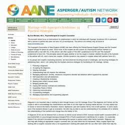 AANE - Marriage with Asperger's Syndrome: 14 Practical Strategies