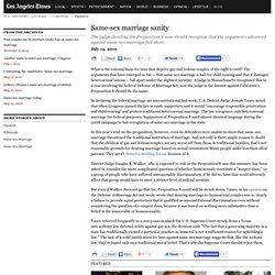 Same-sex Marriage Sanity