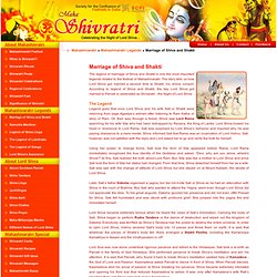 Marriage of Shiva and Shakti,Legend of Shiva Marriage,Marriage of Shiva with Shakti