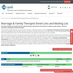 Marriage & Family Therapist Email List