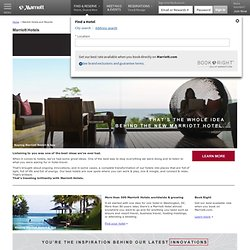Travel to Marriott Hotels and Resorts - Visit the official site