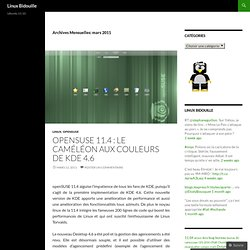 mars « 2011 « Linux Bidouille