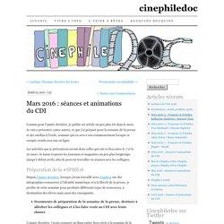 Mars 2016 : séances et animations du CDI