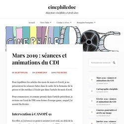 Mars 2019 : séances et animations du CDI