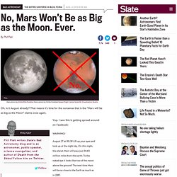 Mars as big as the Moon: No. Just, no.