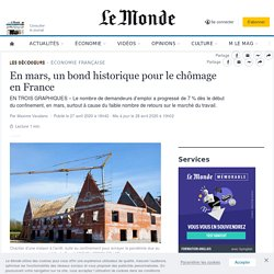 En mars, un bond historique pour le chômage en France