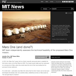 Mars One (and done?)