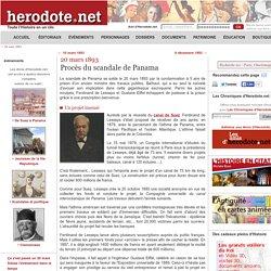 20 mars 1893 - Procès du scandale de Panama