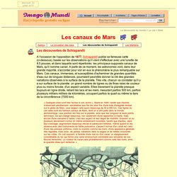 Mars : Schiaparelli et les canaux.