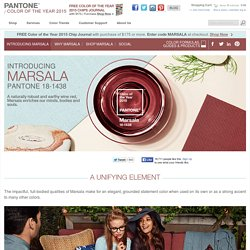 Marsala - Pantone Color of the Year 2015: - Color trends, color palettes , Pantone 18-1438 TCX.