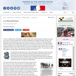 La Marseillaise - France in the United States / Embassy of France in Washington, D.C.