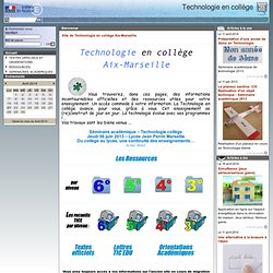 Aix Marseille - Technologie en collège