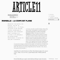 Marseille – la coupe est Plaine