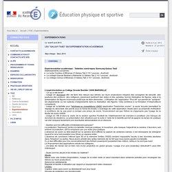 Expérimentations - Éducation physique et sportive