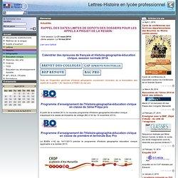 Cinéma en LP, Site Lettres-Histoire, Aix-Marseille