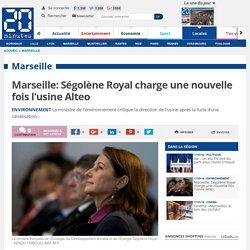 Marseille: Ségolène Royal charge une nouvelle fois l'usine Alteo