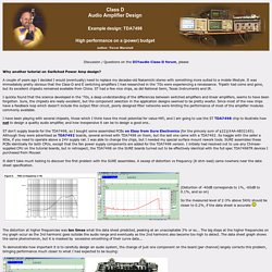 Trevor Marshall - Class D Audio Amplifier Design - TDA7498 Output filters