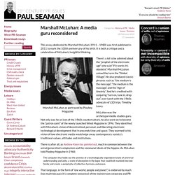Marshall McLuhan: A media guru reconsidered