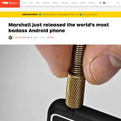 Marshall just released the world's most badass Android phone