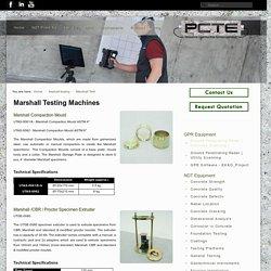 Marshall Testing Machines
