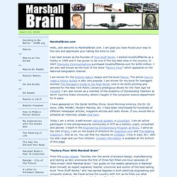MarshallBrain.com - The Official Home Page for Marshall Brain