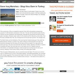 Save Iraq Marshes - Stop Ilisu Dam in Turkey