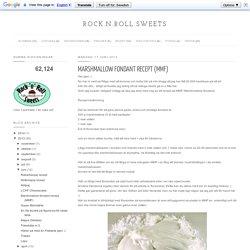 Marshmallow fondant recept (MMF)