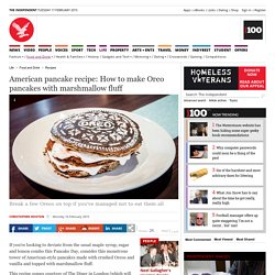 Pancake Day recipe: How to make Oreo American pancakes with marshmallow fluff