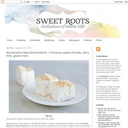Marshmallow Root Marshmallows + Giveaway (paleo-friendly, dairy free, gluten free)