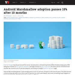 Android Marshmallow adoption passes 15% after 10 months