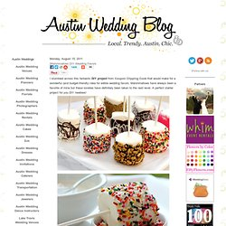 {Marshmallow} DIY Wedding Favors | Austin Wedding | Austin Wedding Blog - StumbleUpon